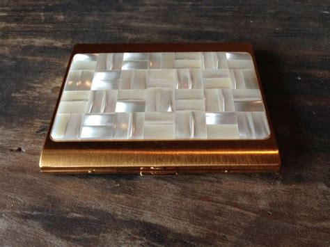 Vintage Cigarette Case Gold Mother Of Pearl Mid Century Business Cards Toronto Canada High End Australia To Excel App Card Printing Adelaide Cbd Avery Template C32011 Credit Bad Scanner Costco