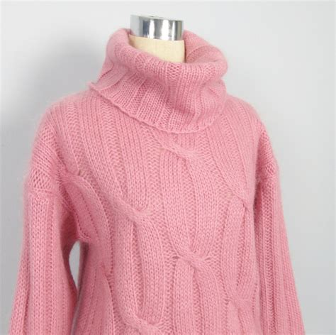 mohair sweater vintage angora mohair wool sweater cowl neck oversize winter