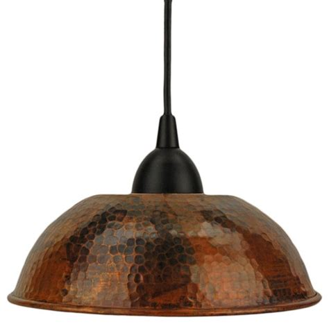 hammered copper dome pendant light traditional