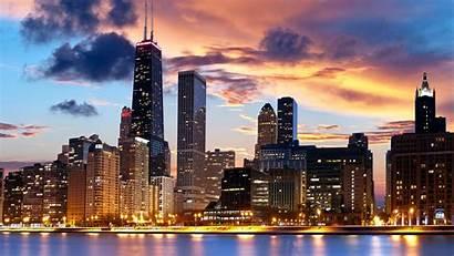 Chicago Illinois Desktop Wallpapers Panoramic Background Vividscreen