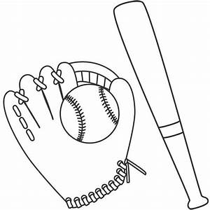Baseball Bat clipart colouring - Pencil and in color ...