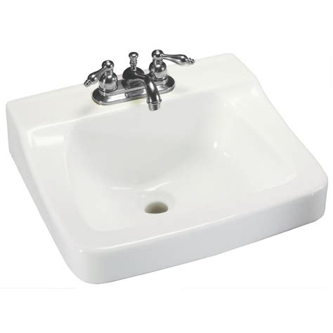 glacier bay bathroom sinks glacier bay aragon wall mounted bathroom sink in white 13