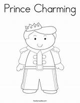 Prince Coloring Charming Built California Usa Twistynoodle sketch template