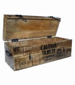 Malle De Rangement En Bois : set de 2 malles de rangement style industriel en bois paloma ~ Teatrodelosmanantiales.com Idées de Décoration