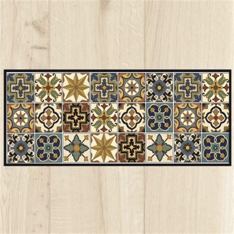 grand tapis de cuisine tapis cuisine carreaux vintage