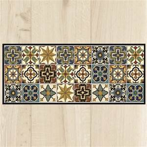 tapis cuisine carreaux vintage With tapis de cuisine design