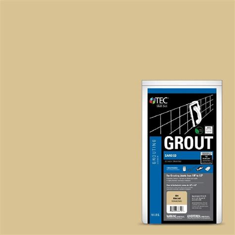 almond grout shop tec skill set 10 lb almond sanded powder grout at lowes com