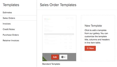 Cant Assing Template by Templates For Sales Order Faq Zoho Books