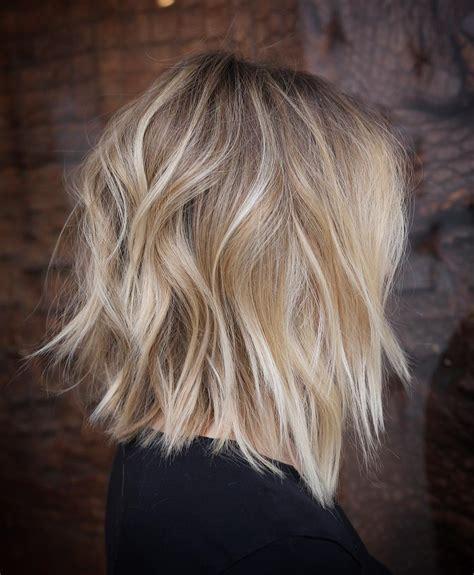 stylish lob hairstyle ideas  shoulder length hair  women