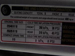 E90 Owners Check Your Tire Pressure