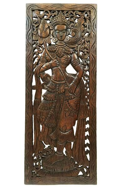 asian wood carved wall art panels unique handmade