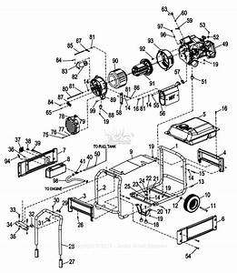 Generac 0057470  Xg8000e  Parts Diagram For Frame Assembly