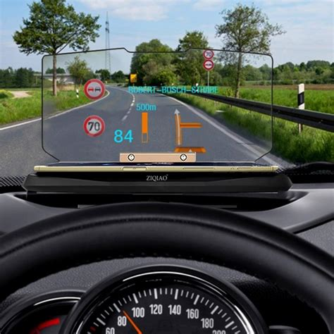 ziqiao gps navigation bracket hud head  display phone