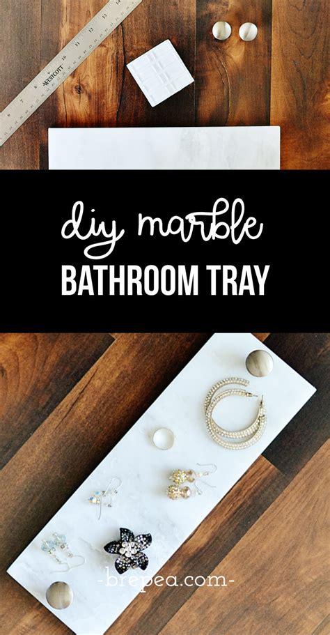 easy diy marble toilet tank tray  small bathrooms bre pea