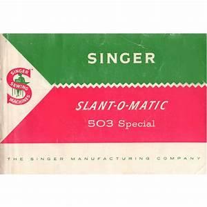 Instruction Manual  Singer 503 Slant
