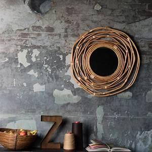 Miroir En Rotin : miroir en rotin collection kubu sign dutchbone decoclico ~ Nature-et-papiers.com Idées de Décoration
