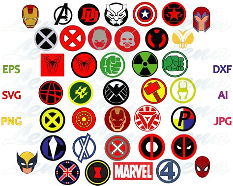 Marvel Superhero Logo Svg Marvel Avengers Superheroes Sign