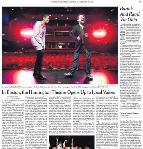 new york times clip huntington theatre co 187 the in between