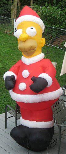sold homer simpson  feet tall inflatable santa claus