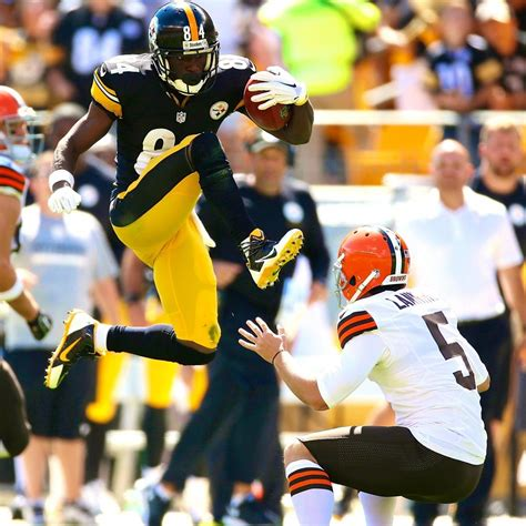 Steelers' Antonio Brown Gets 15-Yard Penalty for Kicking ...