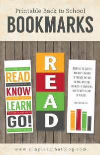 Back to School Bookmarks Printable Free