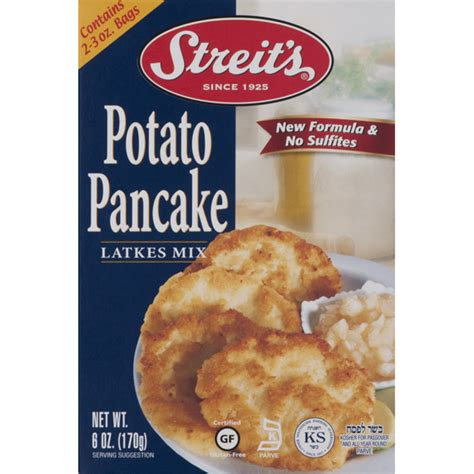This mashed potato pancakes vegan recipe is perfect for when you have leftover mashed potatoes and don't know what to do with them. Streit's Latkes Mix, Potato Pancake (6 oz) from Safeway - Instacart