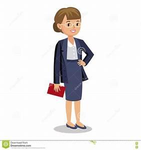Cute Cartoon Office Girl In Casual Fashion. Cute Cartoon ...