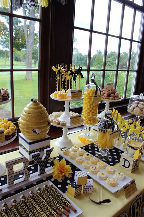 Bumblebee Themed Baby Shower Mommy To Bee Dessert