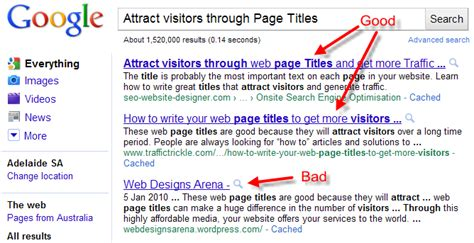 Attract Visitors Through Web Page Titles Get More Traffic
