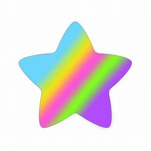 Rainbow Star Stickers | Zazzle