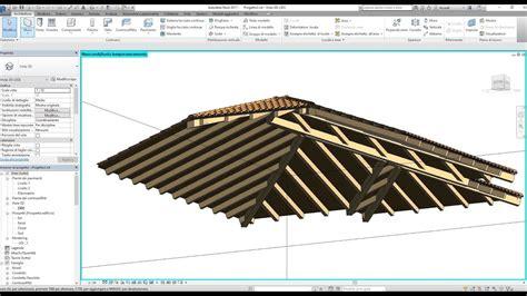 tetto a padiglione in legno revit orditura in legno