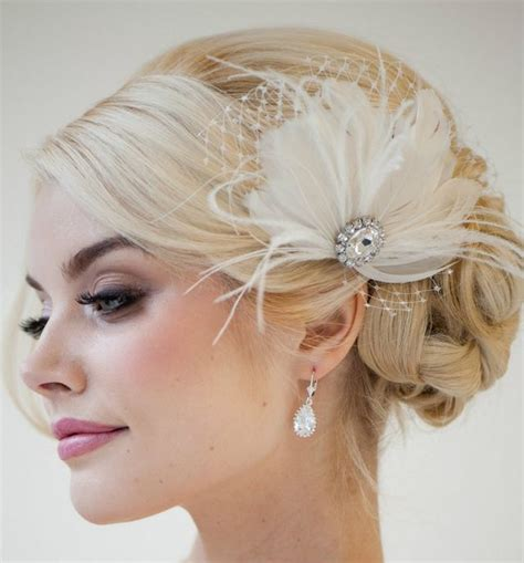 wedding hairstyle  medium hair