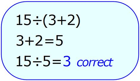 Math Review Of Order Of Operations