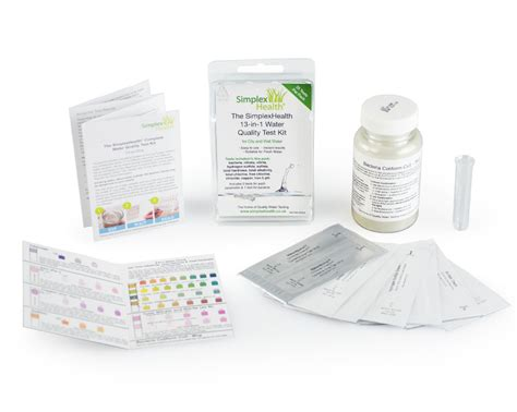 Simplex Health Complete Water Quality Test Kit 13-in-one