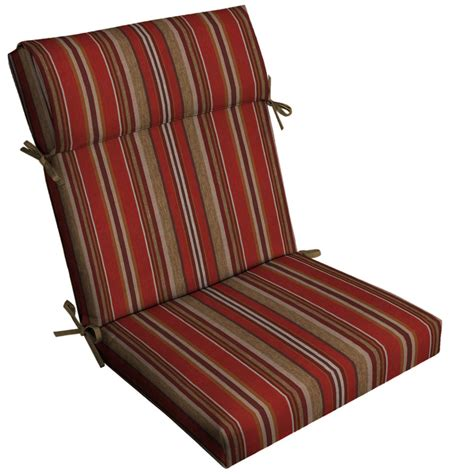 shop allen roth stripe high back patio chair cushion for