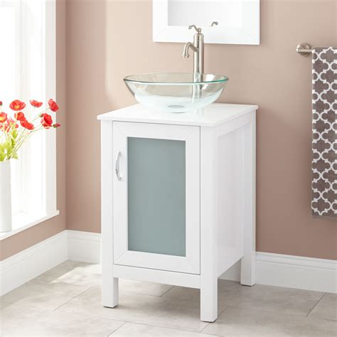 claxton vessel sink vanity white bathroom