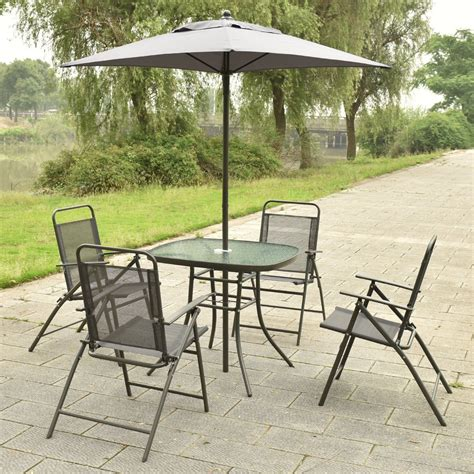 Outdoor Patio Set With Umbrella by Lovely Patio Bar Table With Umbrella Outdoor Sets