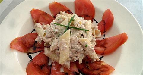 salade de pennes au riz mais thon tomate coeur de