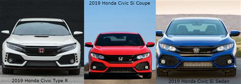 Type R Vs Si by 2019 Honda Civic Type R And Si Model Information