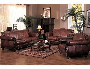 french country living room decor leather leather living With country living room furniture ideas