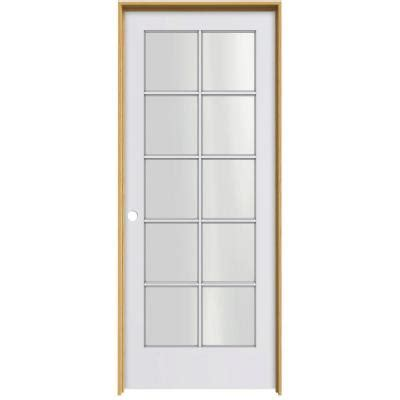 door jamb home depot jeld wen smooth 10 lite primed pine prehung interior door
