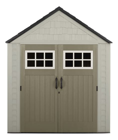 rubbermaid storage sheds at sears rubbermaid 1887155 outdoor resin storage shed 7 x 7