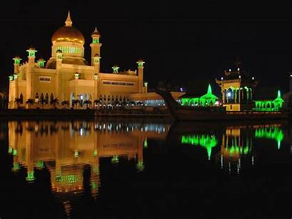 Brunei Night Darussalam Country Capital Hire Mosque