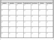 Blank Monthly Calendar Template Word Printable Download