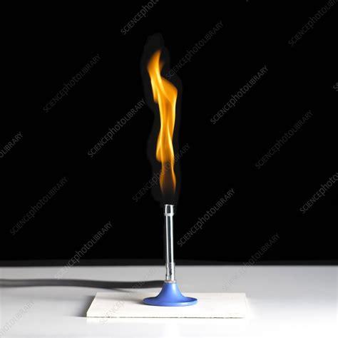 bunsen burner flame stock image  science