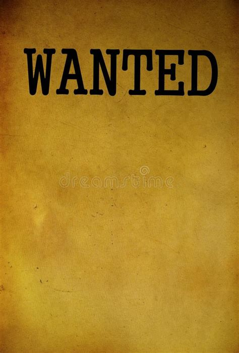 wanted template vintage wanted poster template stock photo image 40424210