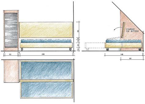 Sofa Unter Dachschräge by Bauanleitung Schlafsofa Mit Schrank F 252 R Die Dachschr 228 Ge
