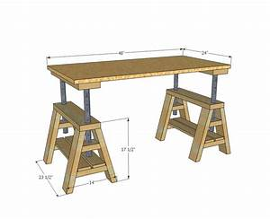 Adjustable Sawhorse Woodworking Plans - WoodWorking