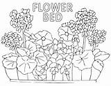 Bed Coloring Flower Pages sketch template