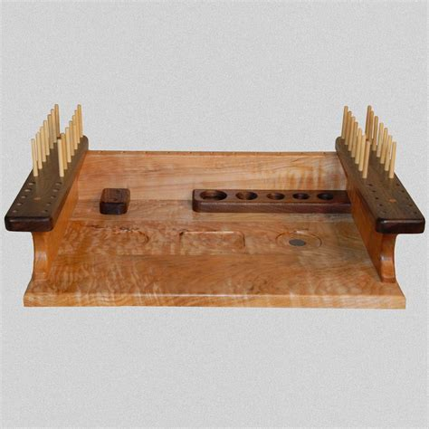 made fly tying bench by rainbow woodworks custommade com
